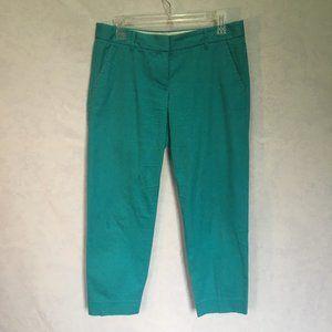 J. Crew Turquoise crop length chino pants